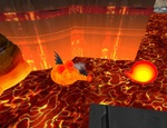 Sausage Turner's lava spitter, hanging around in front of Orion Neville's building.