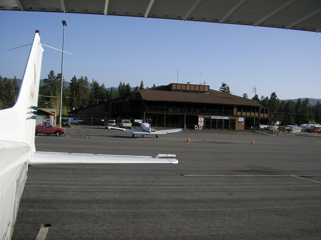 View of the airport restaurant.