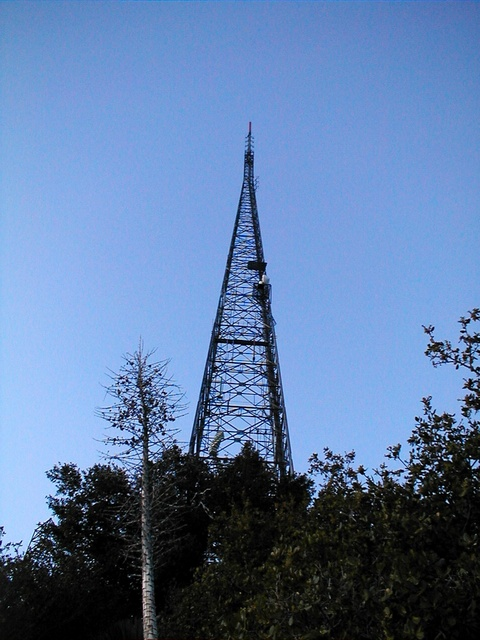 Radio tower on top of Mt. Wilson