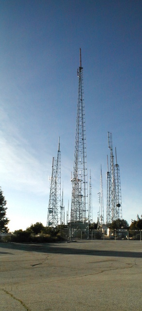 KCET Channel 28 (foreground), some other antennas are visible behind it.