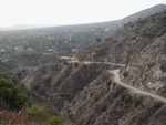 One of the first legs of the toll road. The city in the background is Altadena.