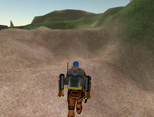 No more wierd jagged terrain: everything is smoothed. (Except in the top left, I'm guessing it isn't smoothed either because it's far away or because the slope is very steep.)