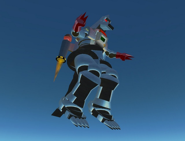 Death from above? The snout contains a flamethrower that ejects a stream of napalm at high speed. It does 100% damage.