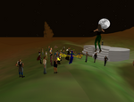 Big meeting at Dark Wood. Guess who won the avatar contest? (Hint: Aurican Sunchaser, the guy with the irridescent wings.)